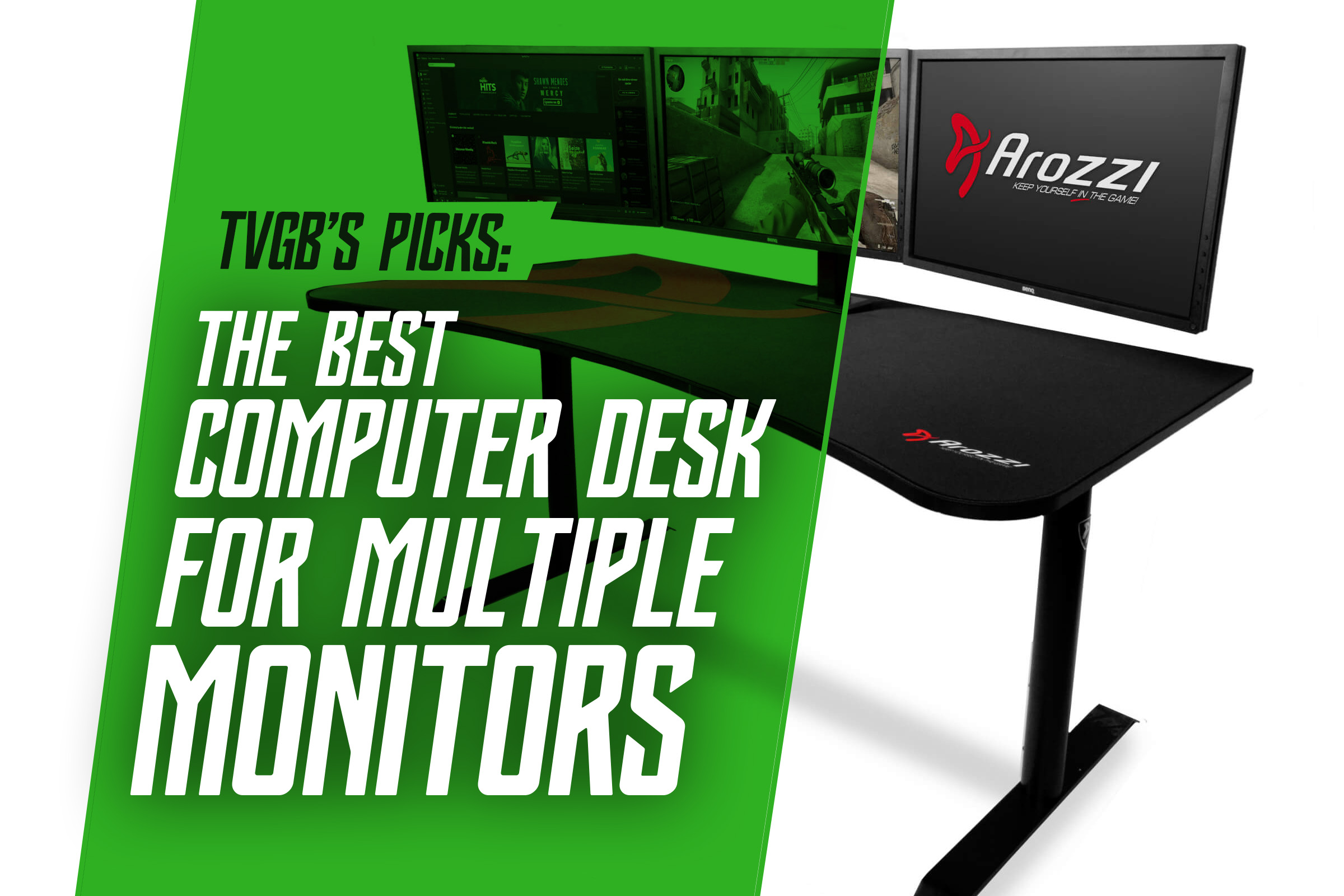 5 Best Gaming Computer Desks For Multiple Monitors In 2020