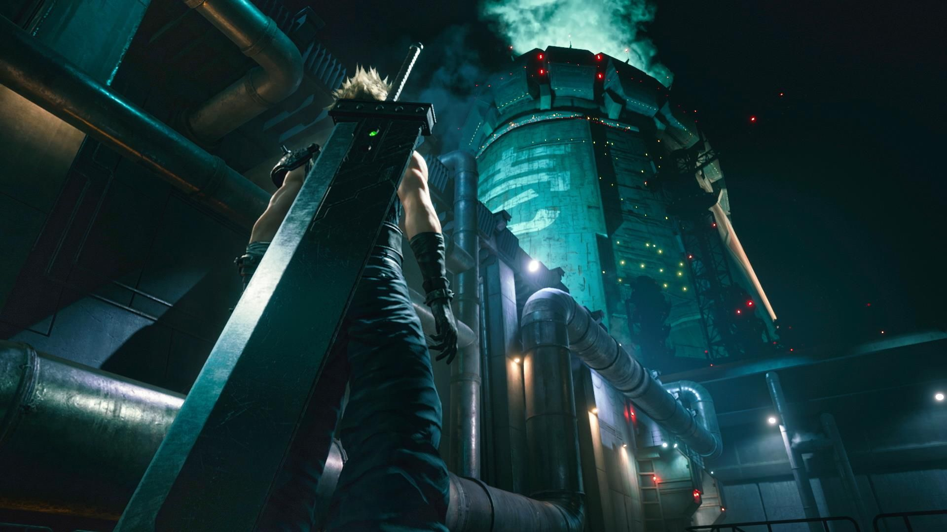 Final Fantasy 7 Remake Cloud and the mako reactor