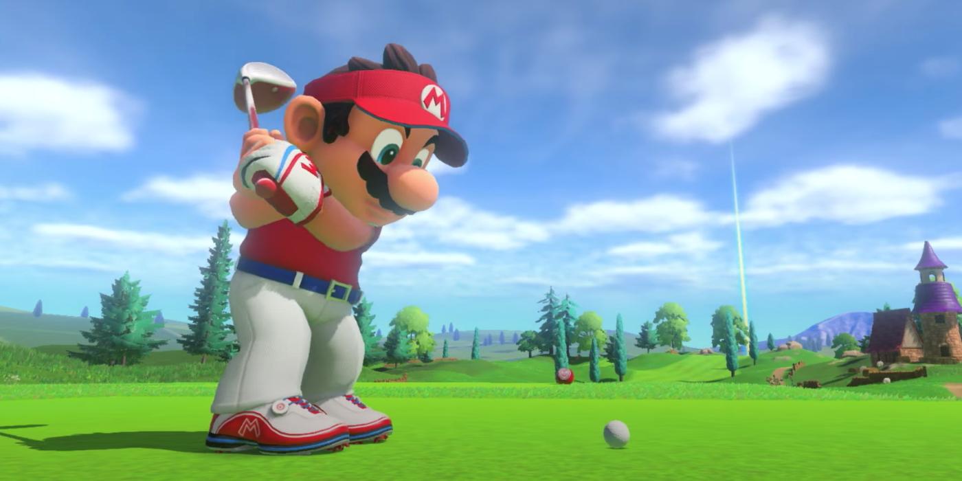 Mario Golf mario tees off