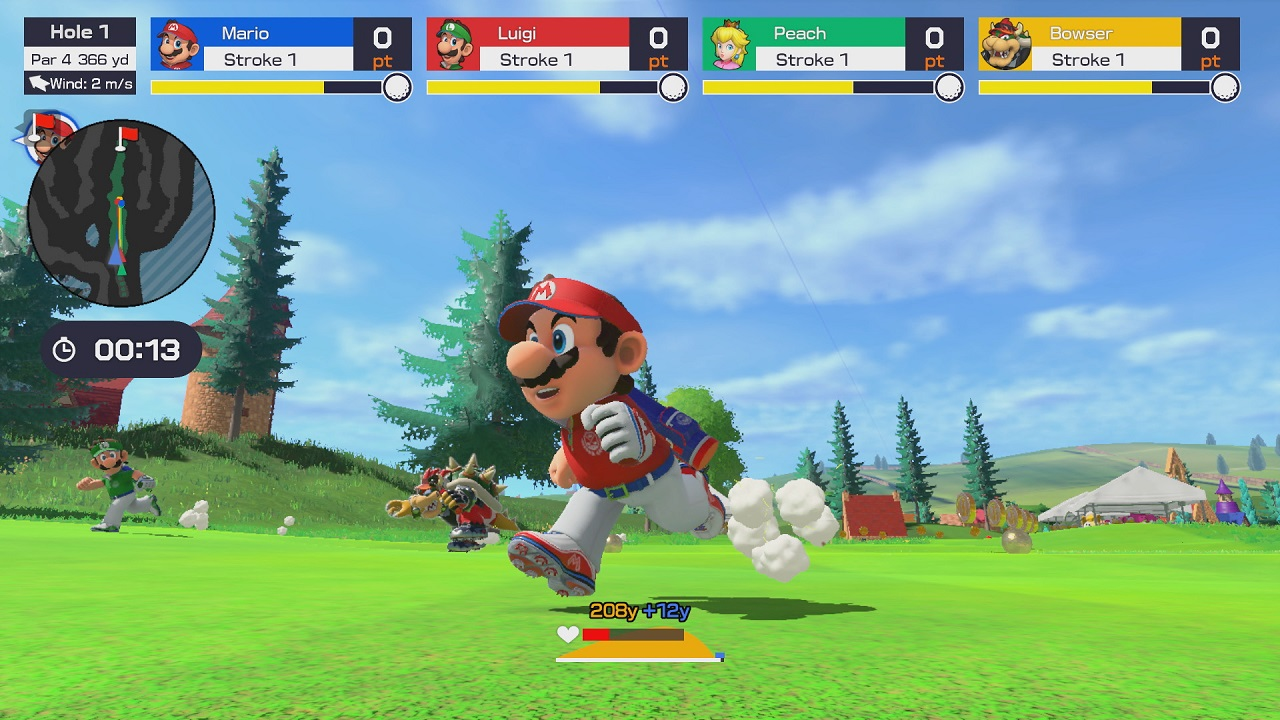 Mario Golf Super Rush run